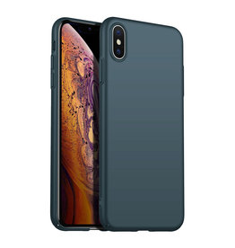 Back Case Cover iPhone X / Xs Hoesje Green Forest
