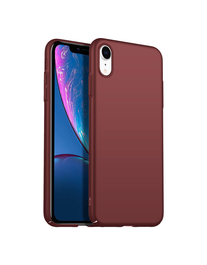 Back Case Cover iPhone Xr Hoesje Burgundy