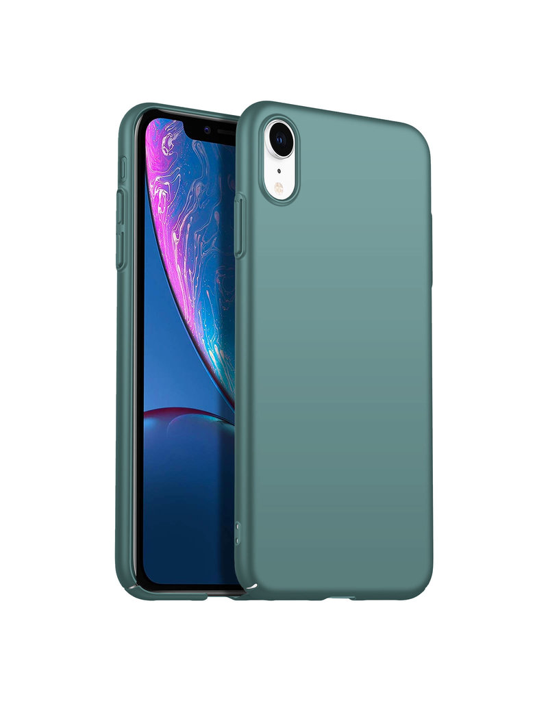 Back Case Cover iPhone Xr Hoesje Grey Blue