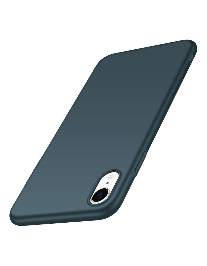Rückseite Hülle Abdeckung iPhone Xr Hülle Green Forest