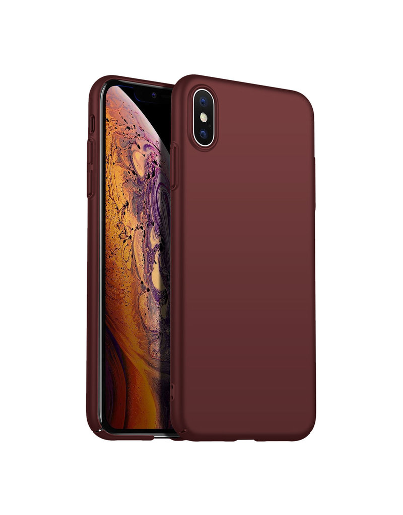 Back Case Cover iPhone  Xs Max Hoesje Burgundy