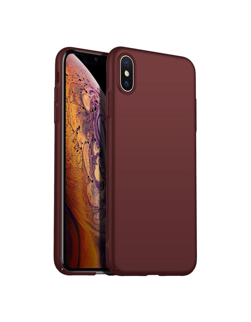 Rückseite Hülle Abdeckung iPhone Xs Max Hülle Burgundy Rot