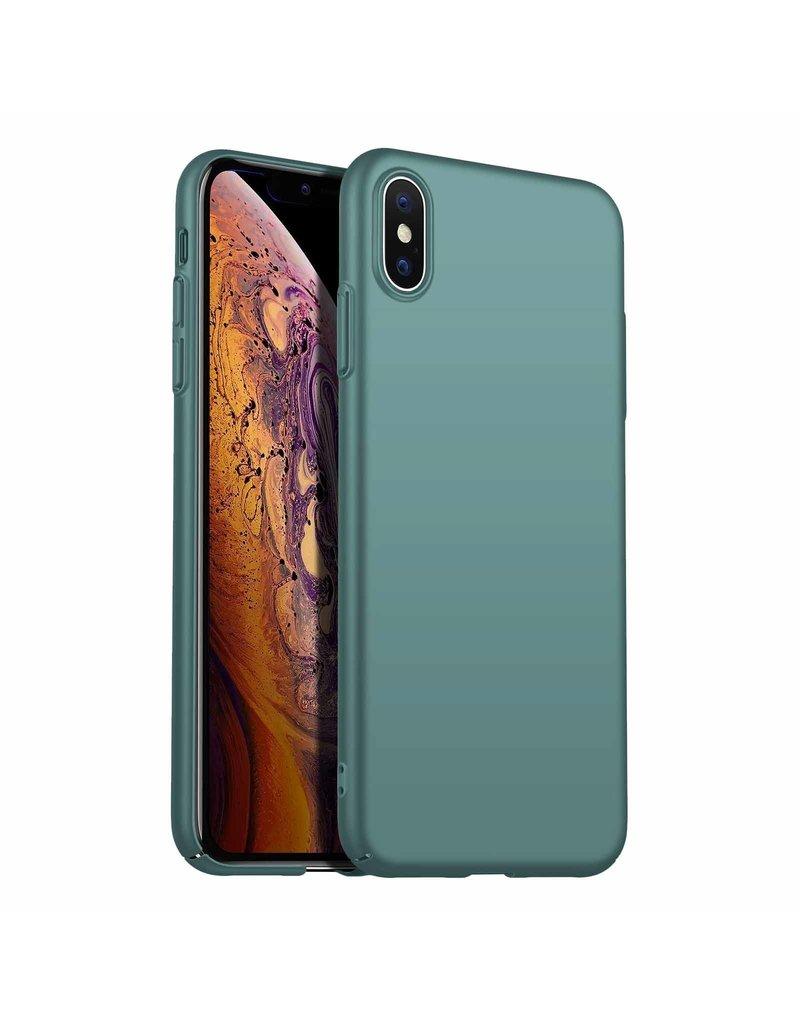 Rückseite Hülle Abdeckung iPhone Xs Max Hülle Grey Blue