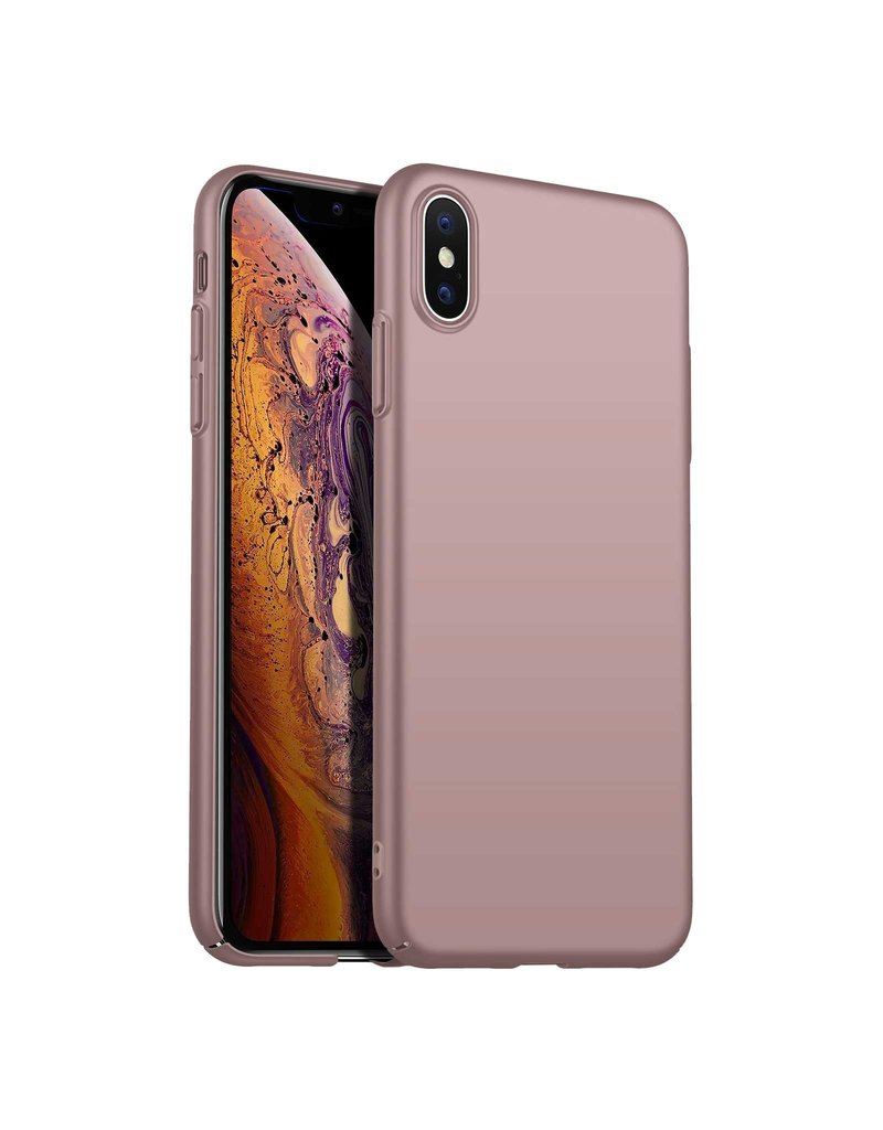 Back Case Cover iPhone Xs Max Hoesje Pink Powder