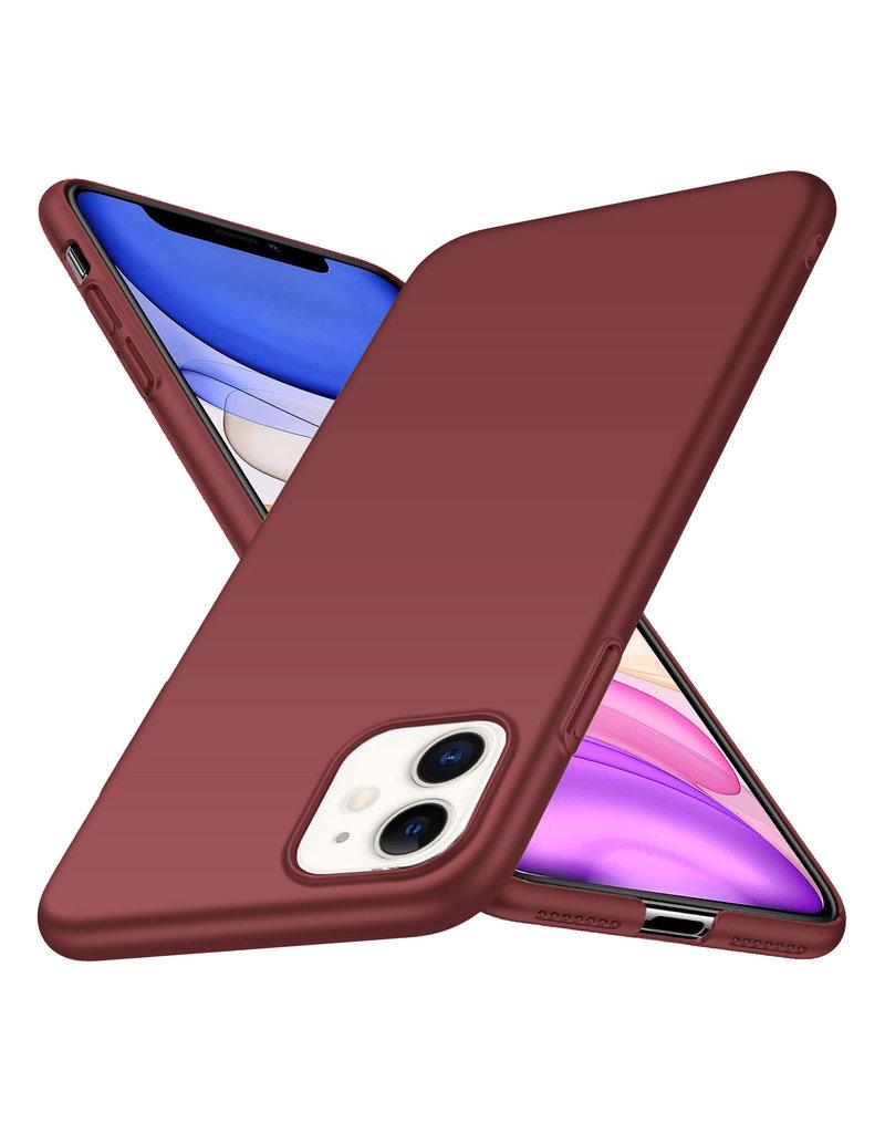Rückseite Hülle Abdeckung iPhone 11 Hülle Burgundy Rot