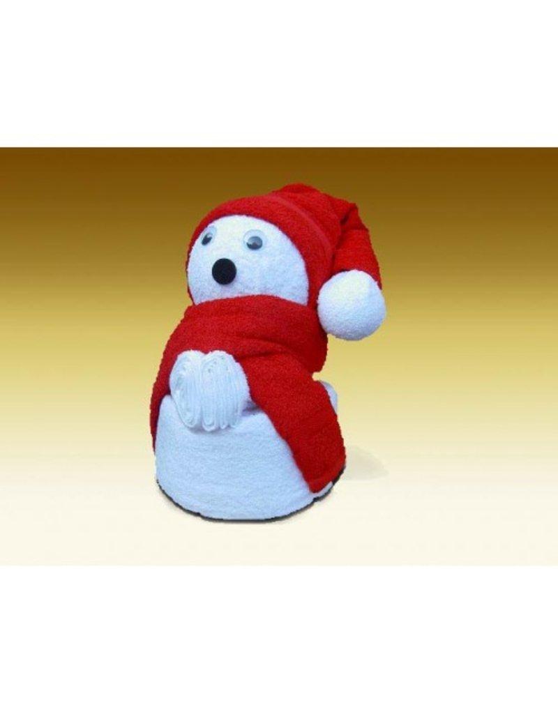 White label Towel dolls Kerstbeer groot