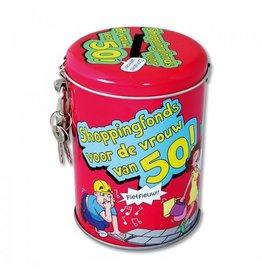 Paperdreams Spaarpot voor de vrouw van 50