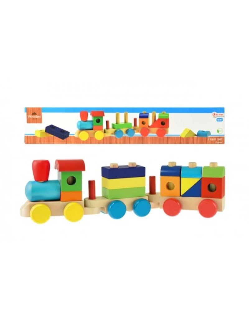 Toi-Toys Houten blokkentrein