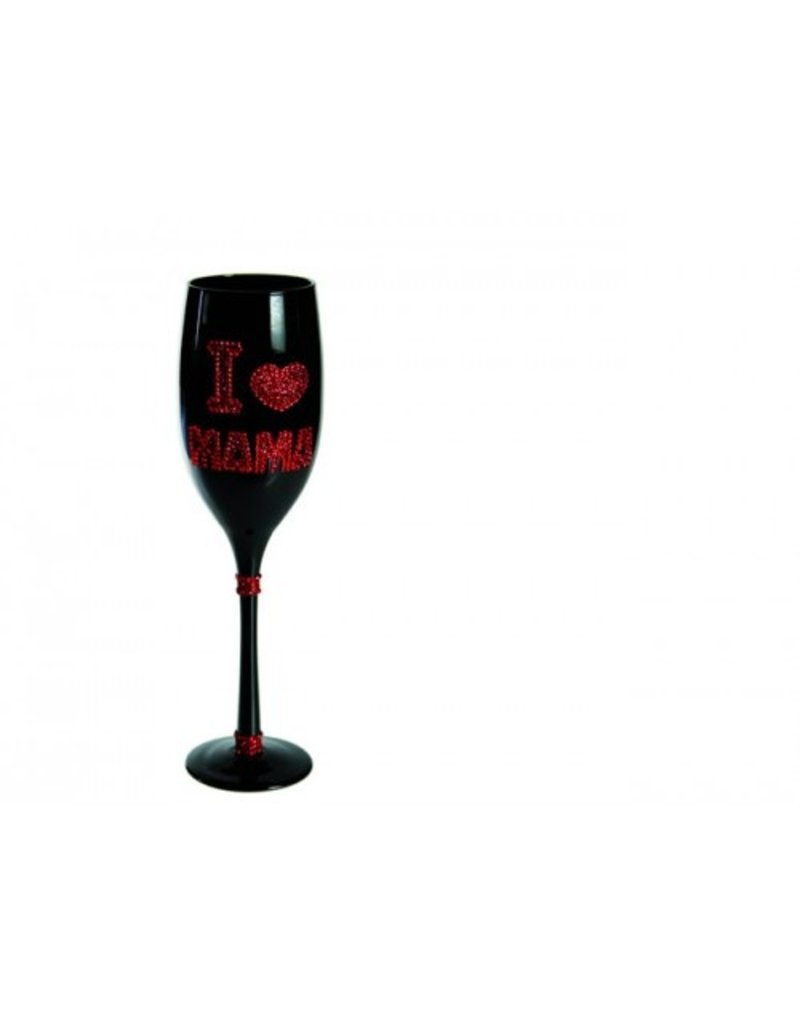 Out of the Blue Champagne-Glas I Liebe Mama