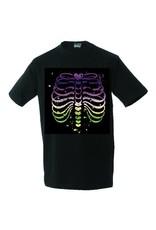 White label Unisex T-shirt Colourfull Ribs