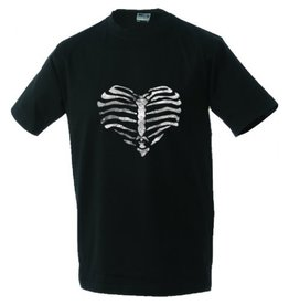 White label Unisex T-shirt Heart made of ribs