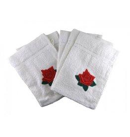 White label Set van 5 washandjes met roosjes