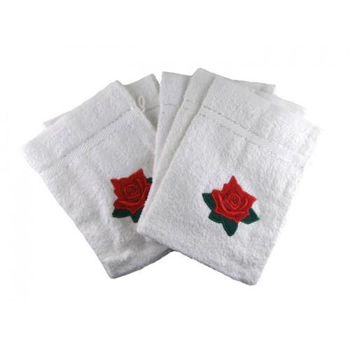 Set van 5 washandjes met roosjes