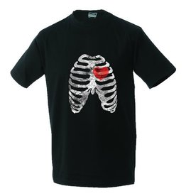 White label Unisex T-shirt Ribs and heart