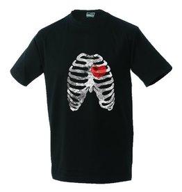 White label Unisex T-Shirt Rippen und Herz