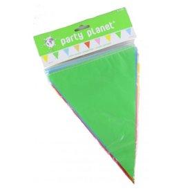 Party Planet Veelkleurige vlaggenlijn 10m