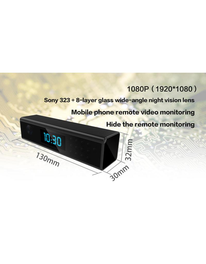 Spy Digital Wecker mit versteckter Kamera FullHD 1080P WiFi