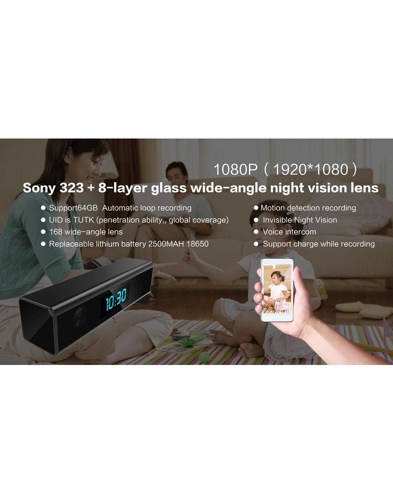 Spy Digitale Wekker Klok met Verborgen Camera FullHD 1080P WiFi