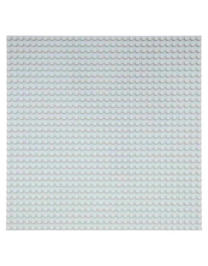 Große Grundplatte Bauplatte für Lego Bausteine Grau 32 x 32