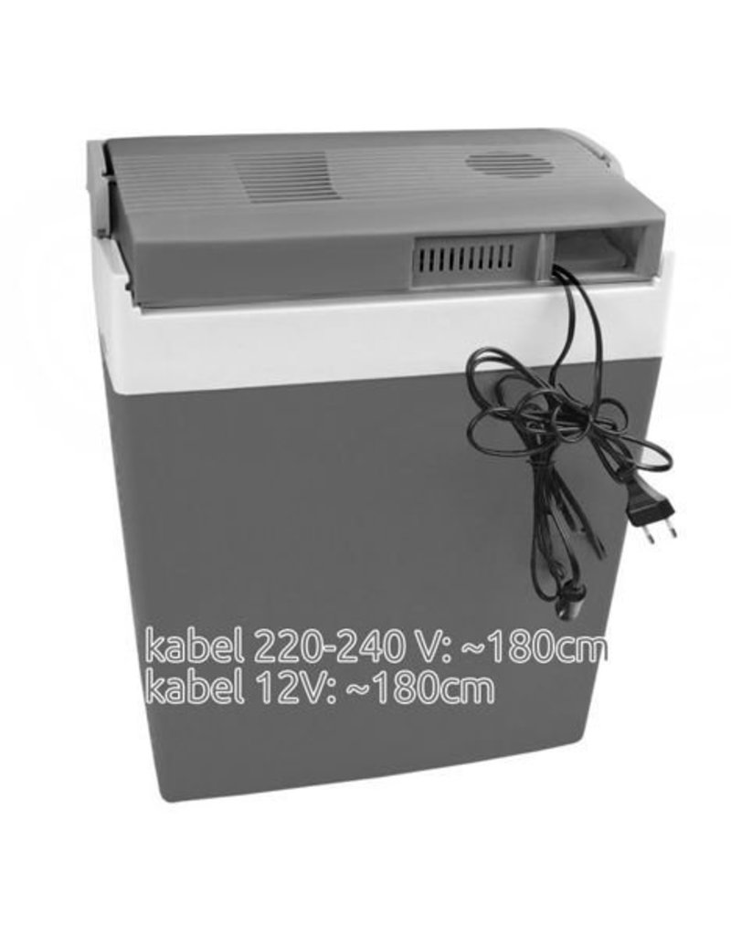 Thermo-Elektrische Koelbox - 29L - 12V DC én 220-240V AC