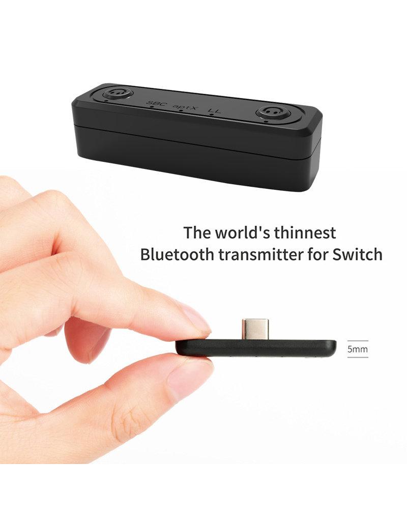 Ultra Slim Bluetooth 5.0 Dual Audio Transmitter - Switch / Switch Lite / PS4 / PC