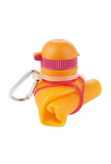 Viv Bottle 3.0 - Opvouwbare Siliconen Fles / Bidon - Oranje
