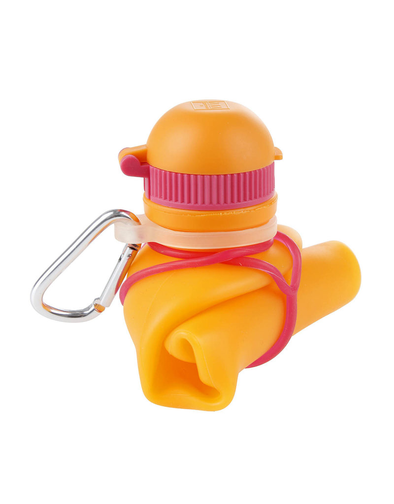 Viv Bottle 3.0 - Faltbare Silikonflasche / Wasserflasche - Orange