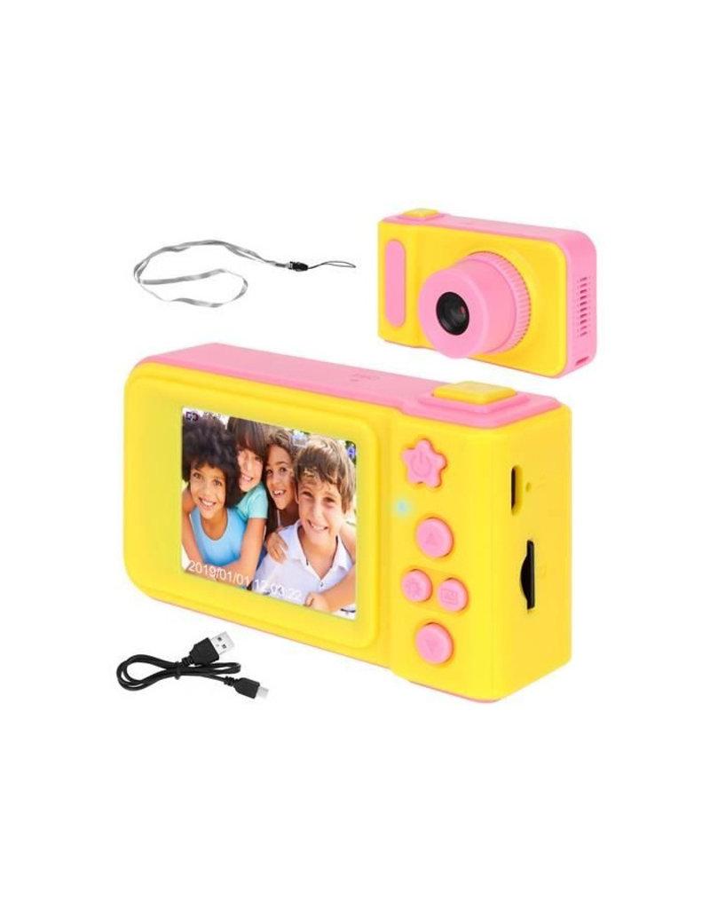 Kids Digitale Foto Camera 3MP / Videocamera 1080P - Draagkoord - Roze