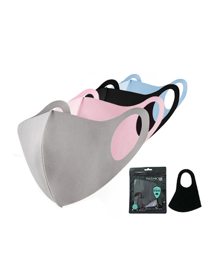 Mondkapje Fashion Ice Silk Cotton Zwart | Mond Neus Masker | Mondmasker
