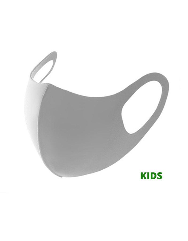 Kinder Gesichtsmaske Fashion Grau | Mund-Nasen-Maske | Mund Maske