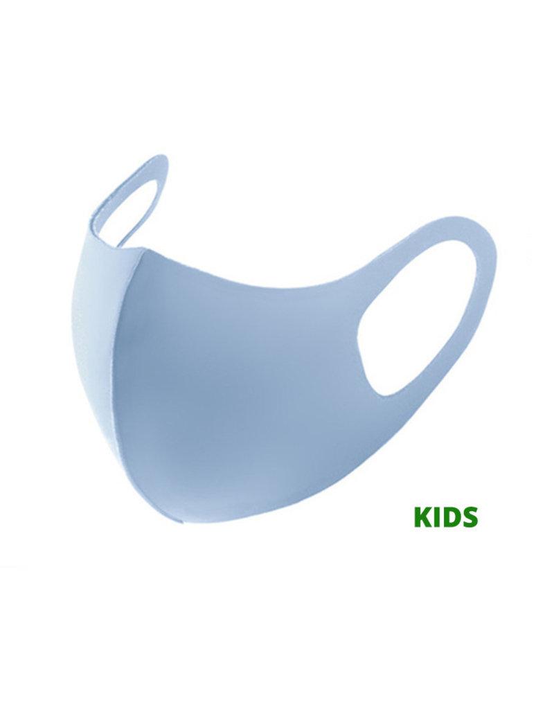 Kids Mondkapje Fashion Ice Silk Cotton Blauw | Mond Neus Masker | Mondmasker