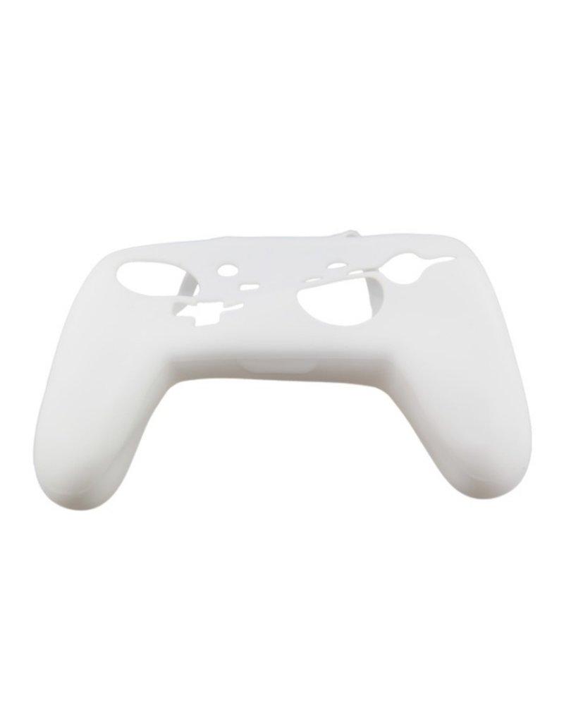 Silicone Beschermhoes Skin voor Nintendo Switch Pro Controller - Wit