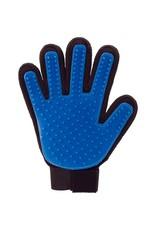 Mantelpflegehandschuh Katze und Hund - schwarz und blau - Rechtshänder