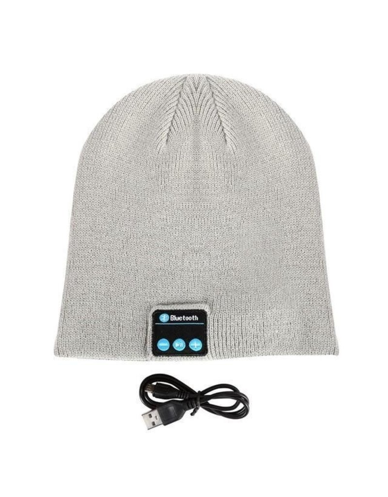 Bluetooth Headset Kappe Hell Grau