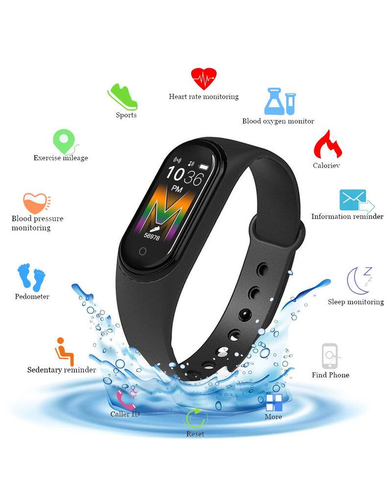 Smartband M5 Fitness activity tracker Stappenteller- Zwart