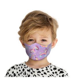 Mondkapje Kids met Zilverionen - Eenhoorn| Mond Neus Masker | Mondmasker