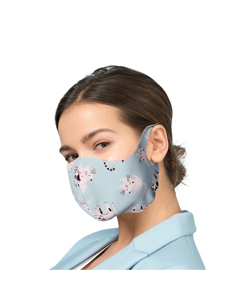 Mundmaske mit Silberionen - Fröhliche Katze| Mund-Nasen-Maske | Mundmaske