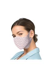 Mundmaske mit Silberionen - ZigZag Beige | Mund-Nasen-Maske | Mundmaske