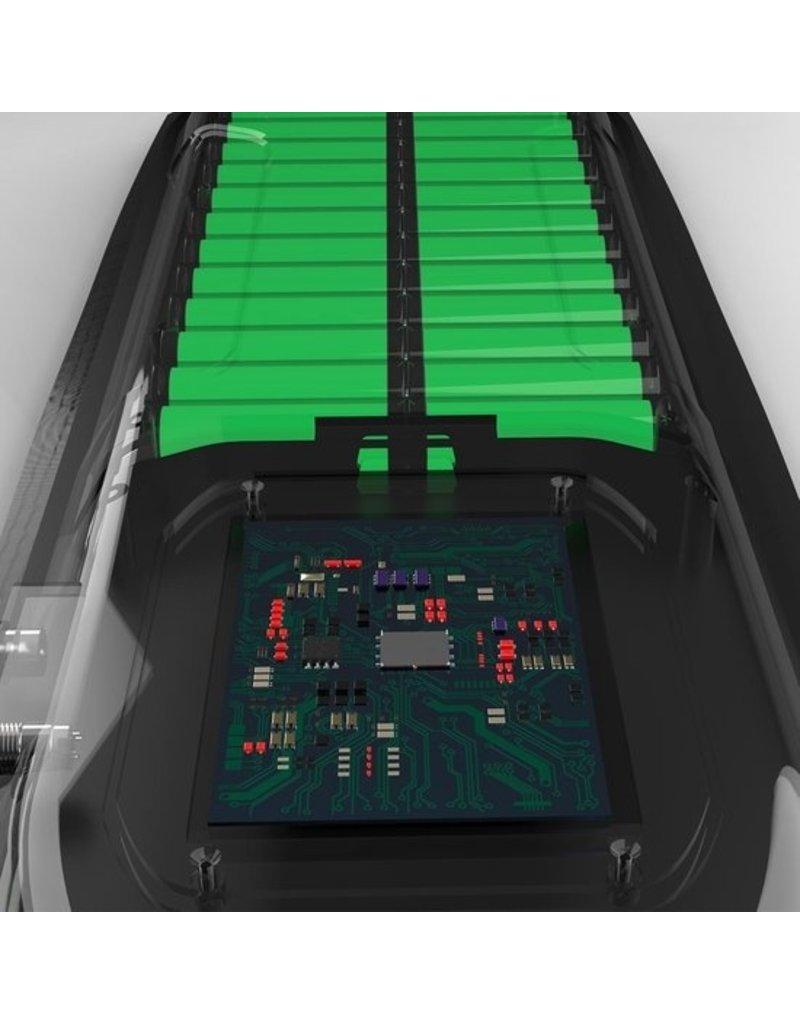 Elektrisches Longboard - Skateboard - Leopard Black - 400W - mit Fernbedienung