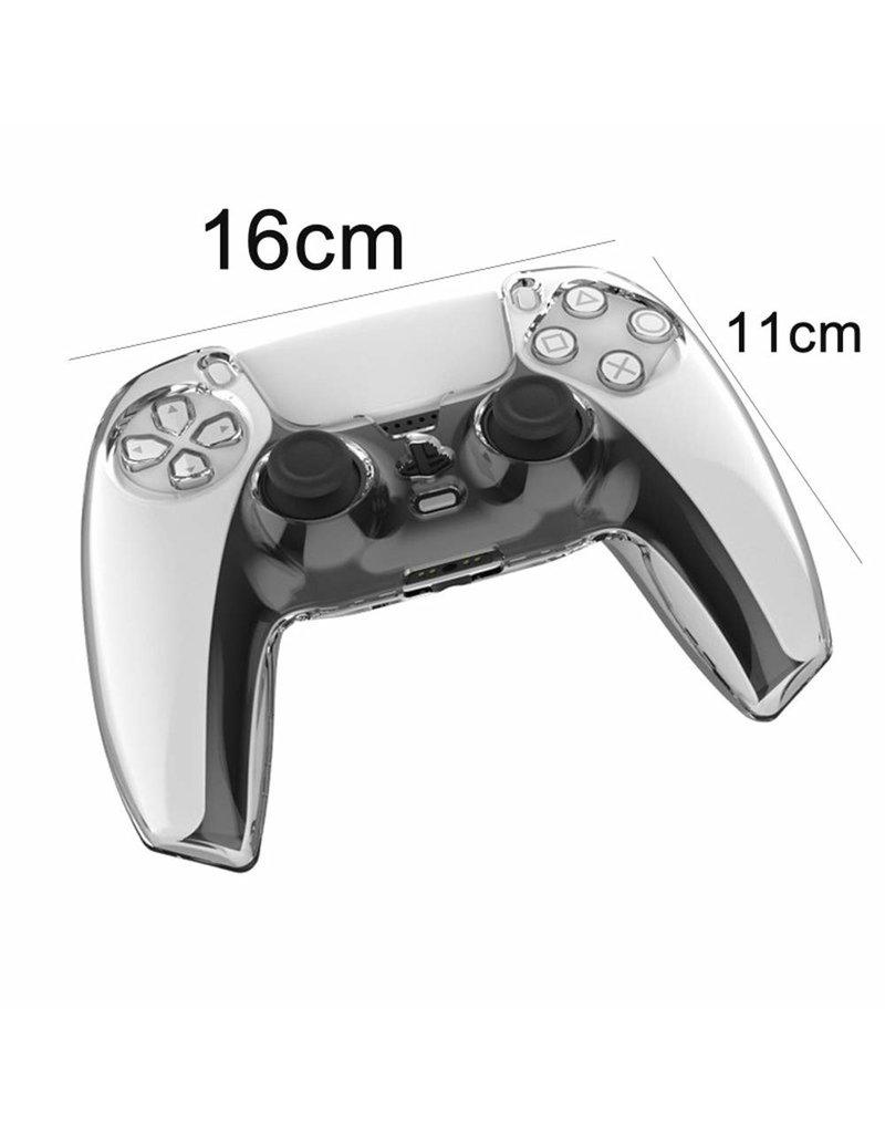 Crystal Case Hartschalenabdeckung für PS5 DualSense Controller - Transparent