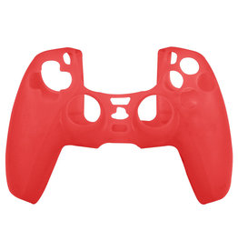 Silicone Case Cover Skin voor PS5 DualSense Controller - Rood