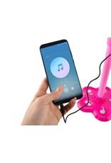 Kindermikrofon auf einem Ständer - Spielzeugmikrofon auf einem Ständer - Pink