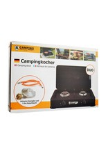 Camping Gaskocher Duo - Tragbarer Gasherd - 2-Flammen-Herd - Außenherd - Butangas