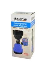 2-in-1 Camping Gasbrander - Camping Gaskoker - Gas Kolenbrander - Blauw