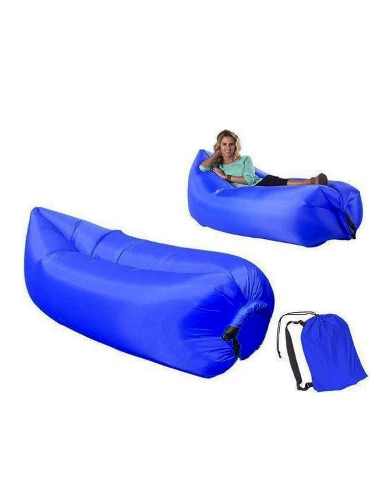 Luftliege - Airbag - Aufblasbarer Sitzsack - Luftliege - XL - Blau