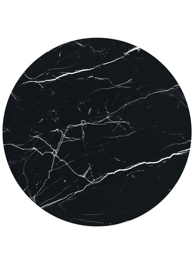 Muurcirkel Marmer zwart