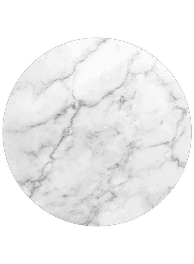 Muurcirkel Marmer wit