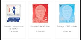 Postzegels meeleveren met uw bestelling