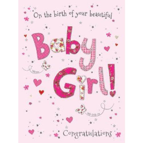 XL kaart - Baby Girl