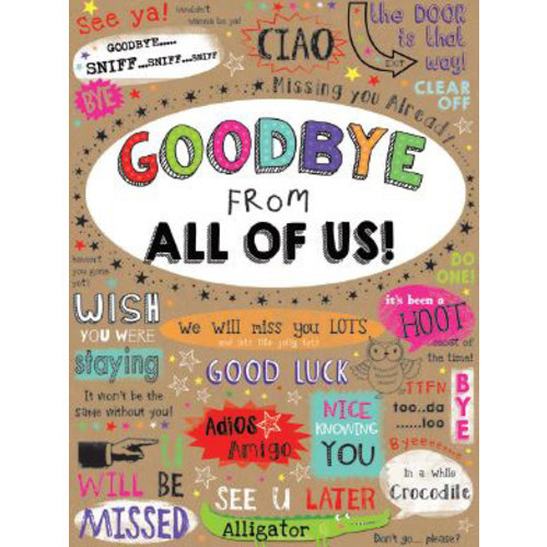 XL kaart - Goodbye from all of us!